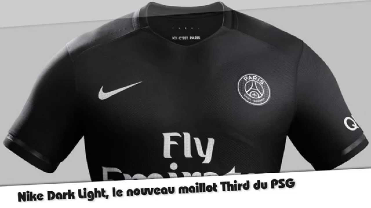 nouveau maillot third du psg nike dark light youtube. Black Bedroom Furniture Sets. Home Design Ideas
