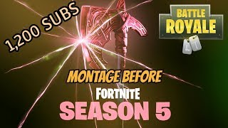 Fortnite last video before Season 5 begins! battle pass giveaway!