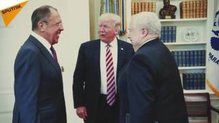 Russian Foreign Minister Sergei Lavrov and Russian Ambassador to the U.S. Sergei Kislyak meets US President Donald Trump in Washington, DC. on May 10, 2017.