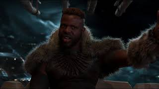 "M'Baku ""Grunting / We are vegetarians"" Funny Scene [HD] Black Panther 2018 Movie"