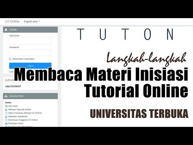 Cara Membaca Materi Inisiasi Tutorial Online Universitas Terbuka