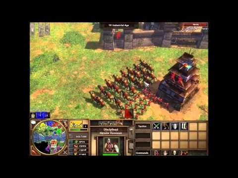 Age of Empires III Asian Dynasties 4v4 Gameplay (Amazonia) HD