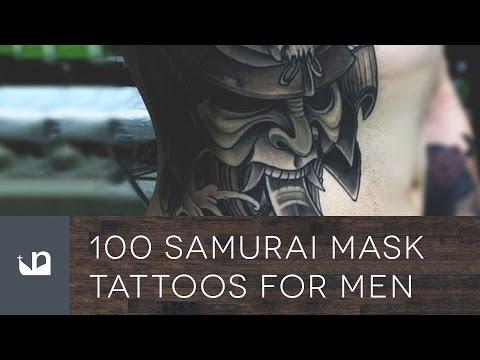 100 Japanese Samurai Mask Tattoos For Men