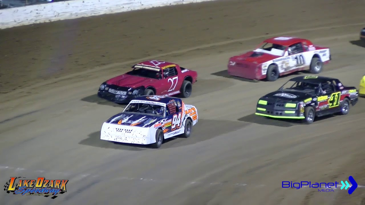 Dirt Track Racing Lake of the Ozarks Pure Stock Race #1 4-20-19