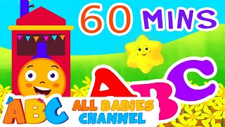 ABC Train Song | ABC Songs for Children & Nursery Rhymes | 60 Minutes Compilation for Kids