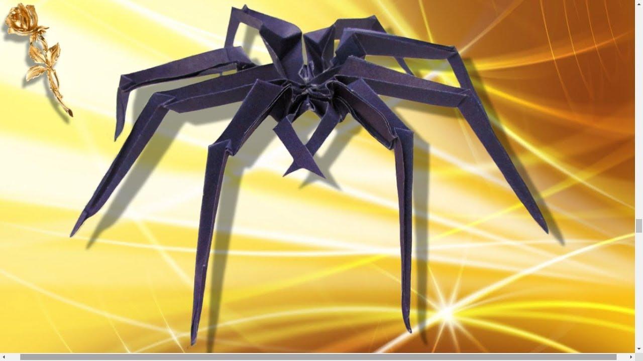 origami : 🕷 araignée 🕸 - youtube
