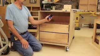 Sanding Center Pt 6  Install Drawers