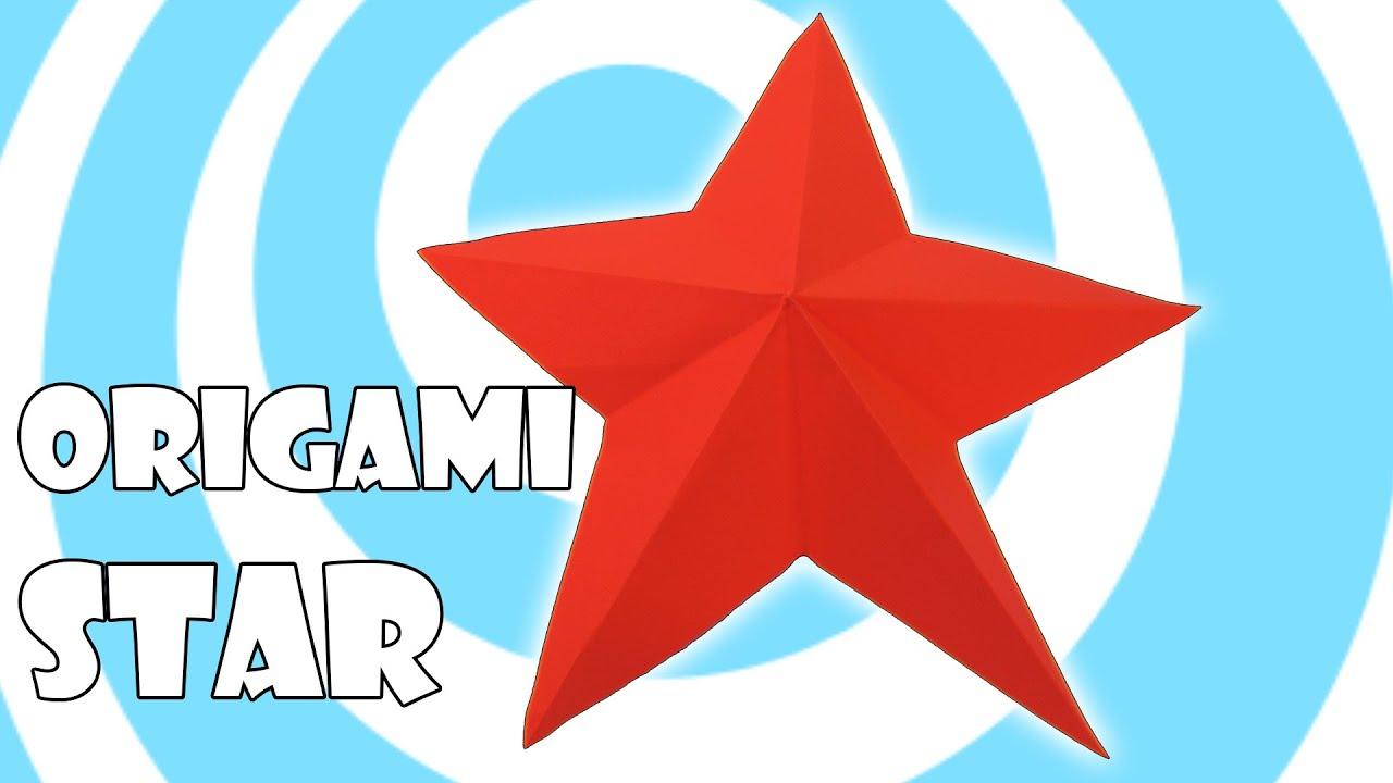 Easy Origami Christmas Star Tutorial  YouTube Christmas Origami Easy