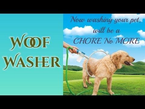 Woof Washer | Pet Dog Cat Bathing Cleaner 360 Degree Shower Tool Kit Bath Sprayer