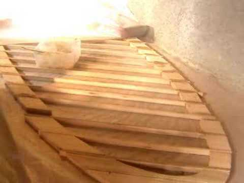 Building a wooden surfboard frame panel - YouTube