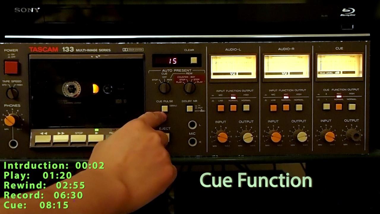 tascam 133 cassette deck operation guide youtube rh youtube com
