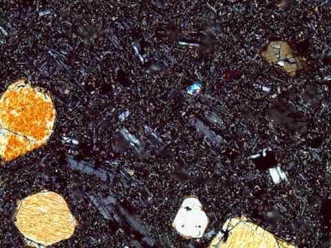 Alkalic Olivine Basalt Thin Section