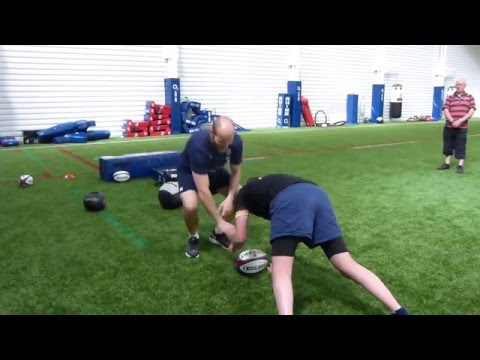 Hips up and body position rugby coaching drills - Paul Gustard
