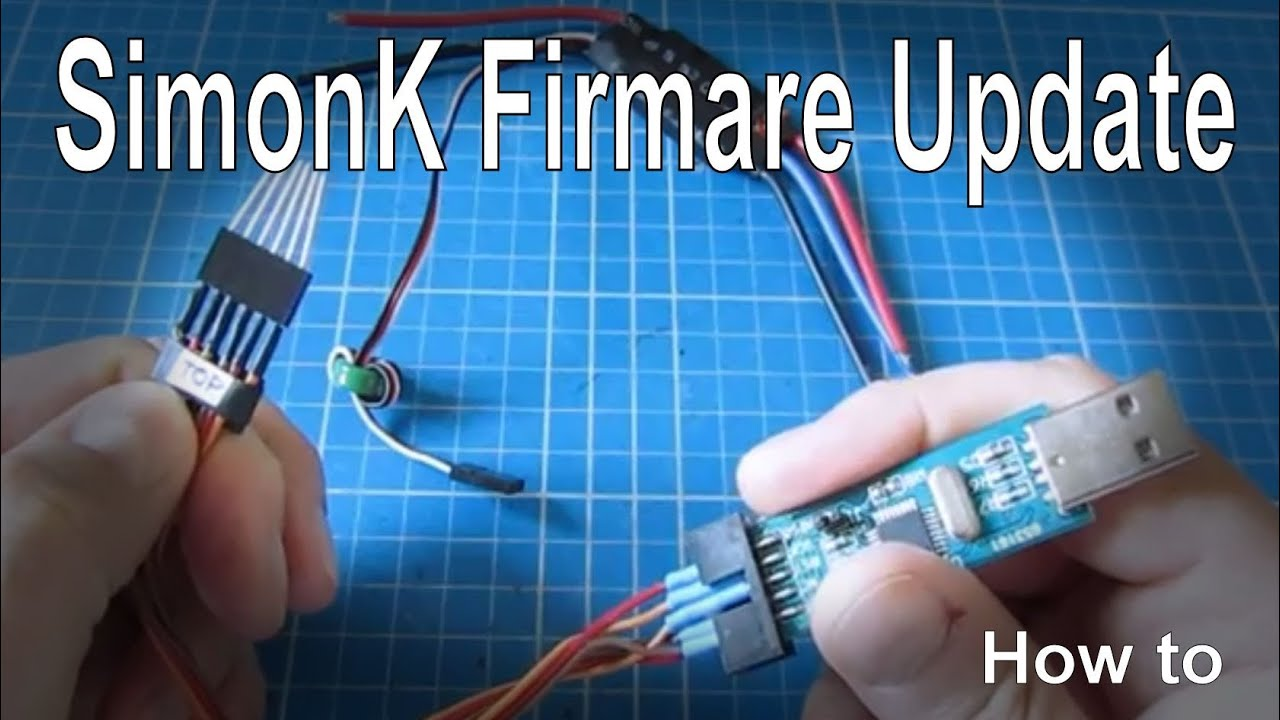 how to update simonk firmware on escs using an usbasp tool [ 1280 x 720 Pixel ]