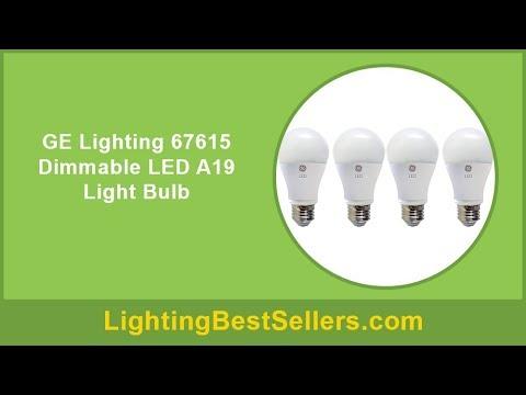 ge lighting 67615 dimmable led a19 light bulb