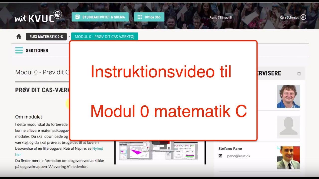 Instruktionsvideo Modul 0 Matematik C flex