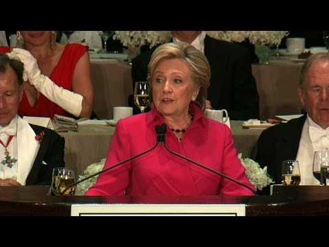 Hillary Clinton's entire speech at the Al Smith dinner