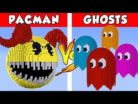 PACMAN Vs GHOSTS - PvZ Vs Minecraft Vs Smash