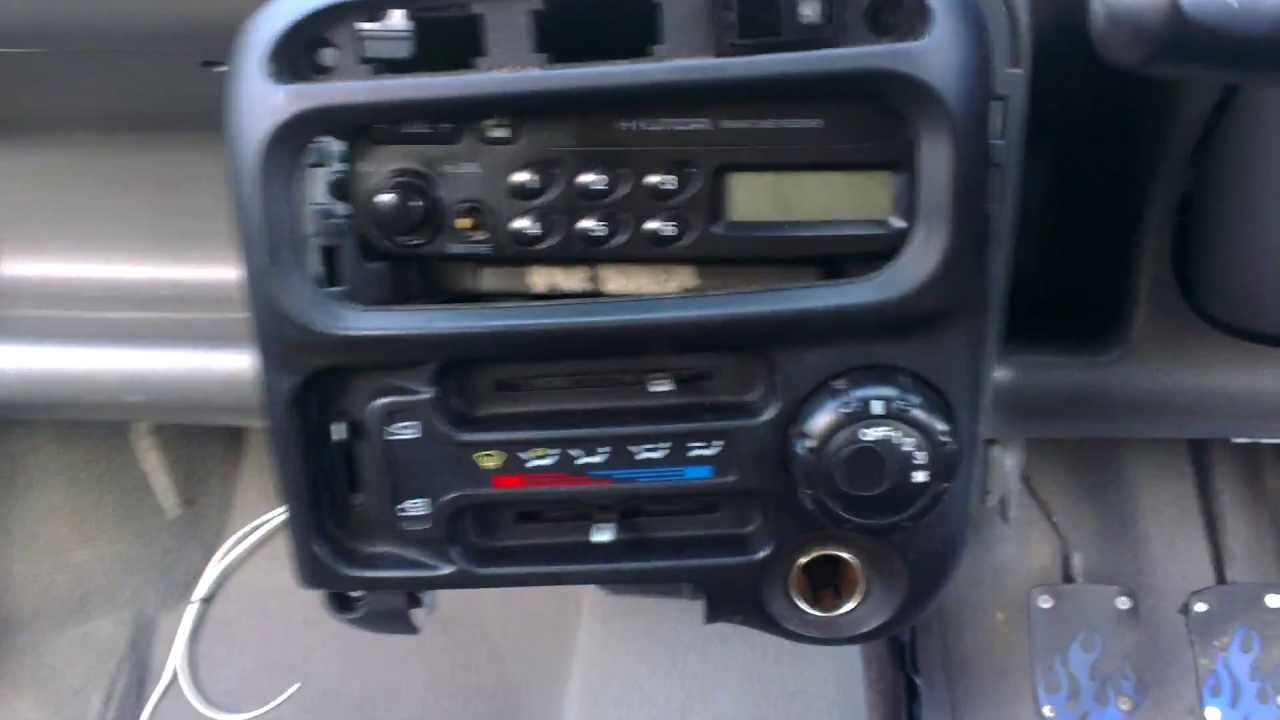 Hyundai atozamica radio facia removal  YouTube