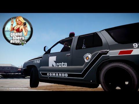 GTA 5 - LSPDFR #1: Rota Comando Dia Movimentado Pela Cidade (GTA 5 PC POLICE MODS)