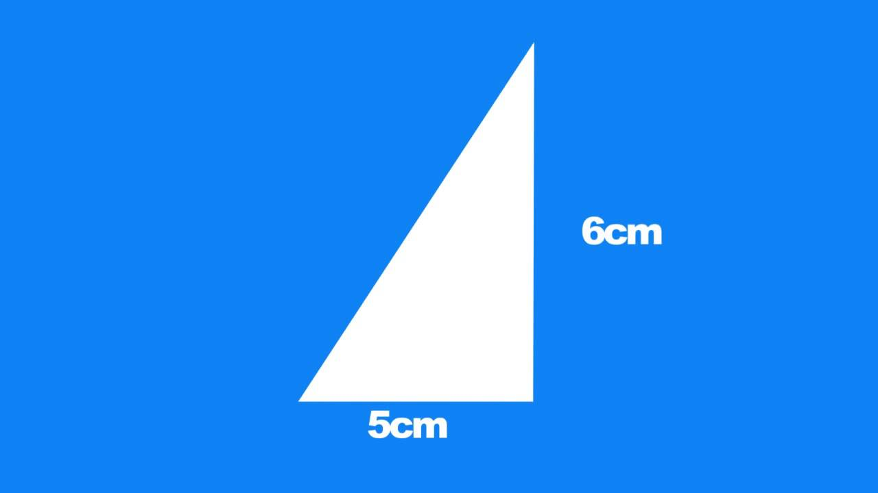 How To Find The Area Of A Right Angled Triangle Youtube