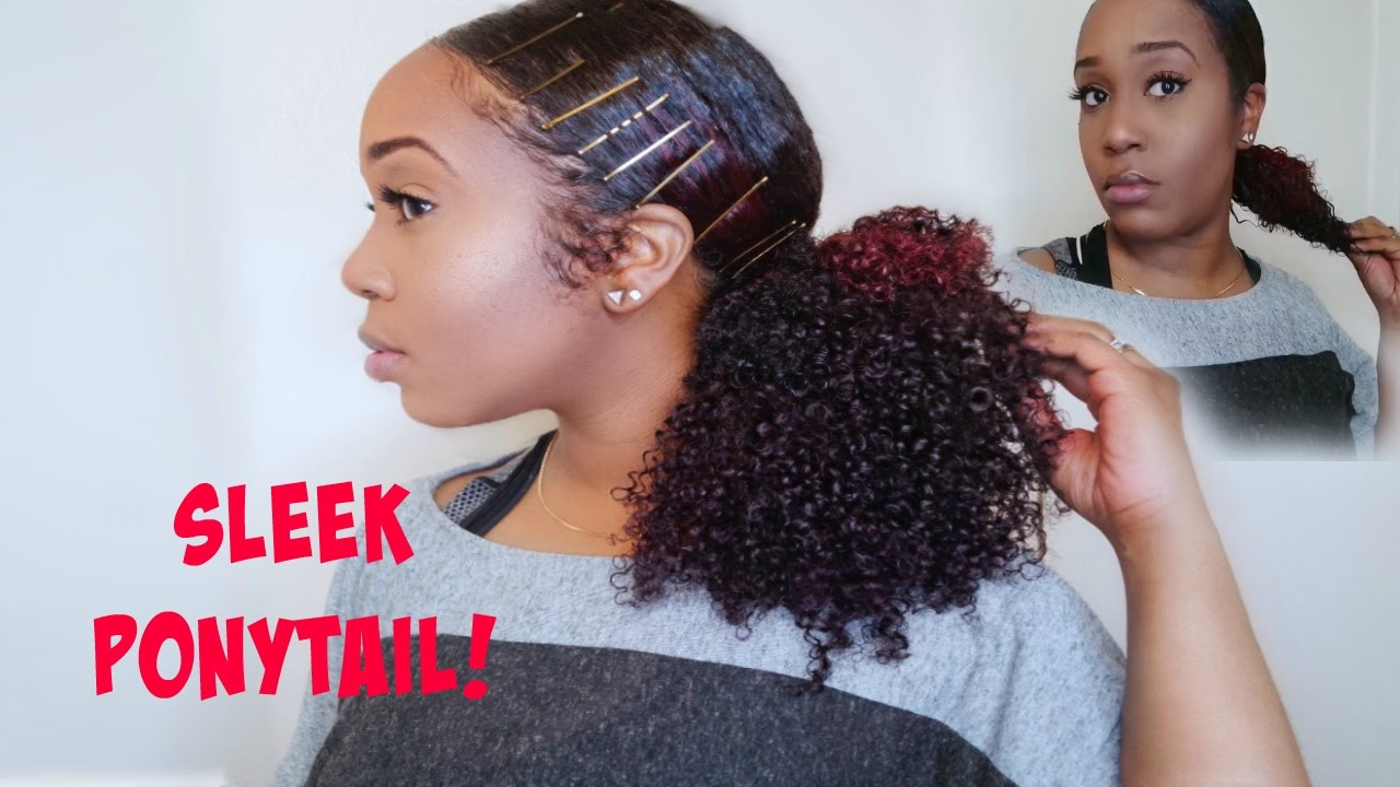 How To Low Sleek Ponytail And How To Blend Hergivenhair