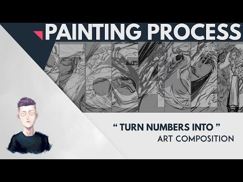 PAINTING PROCESS - Turn Numbers into Composition using Espada [Bleach]