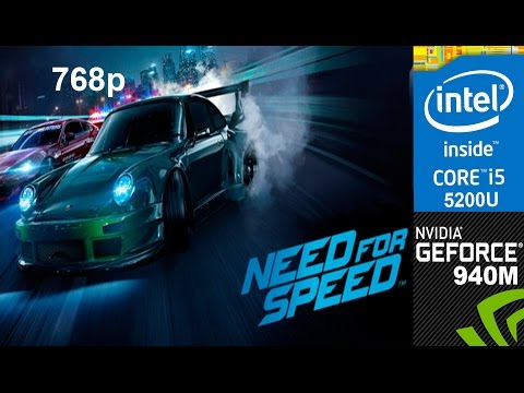 Need for Speed 2016 on HP Pavilion 15-ab032TX, Med Setting 768p, Core i5 5200u + Nvidia Geforce 940m