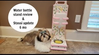 dog water bottle stand review