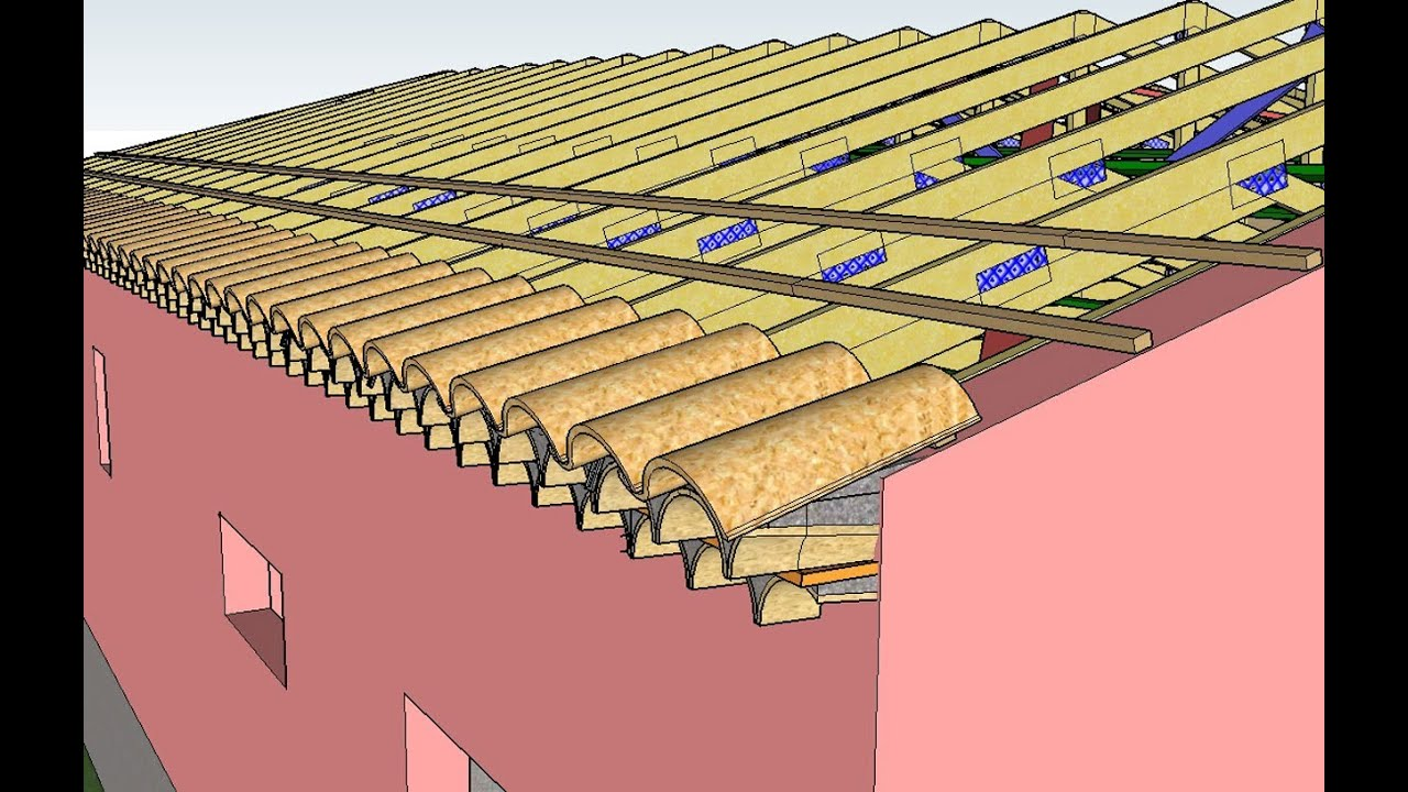 Mod lisation trois dimensions toiture couverture configuration en l youtube - Desamianter une toiture ...