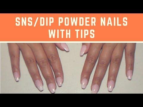 SNS Dip Powder Nails With Tips