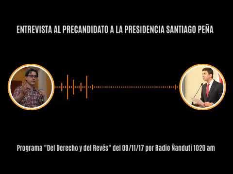 Entrevista a Santiago Peña, candidato a la Presidencia de la República