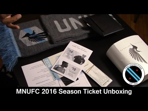 MNUFC 2016 Season Tickets Unboxing - Two United Fans
