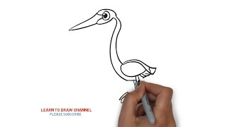 Easy Step For Kids How To Draw a Goose