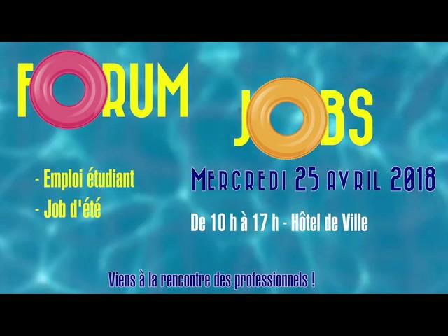 Vidéo 1ère édition du Forum Jobs d'été