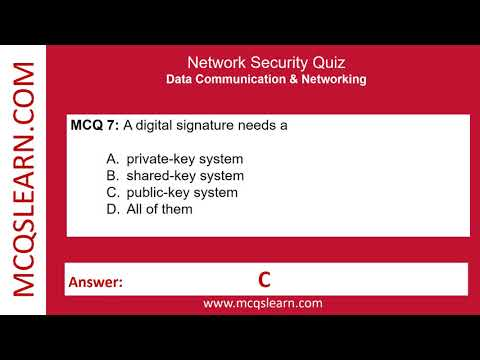 Network Security Quiz - MCQsLearn Free Videos