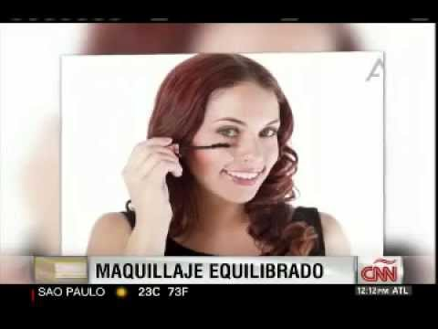 NotiMujer Mercedes Soler on CNNE Interview Pro Makeup Artist Jessica Rivero