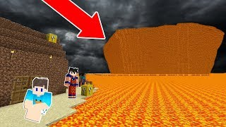 Download lagu AMIGOS SALVAM A VILA DO MEGA TSUNAM DE LAVA NO MINECRAFT!!