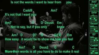 Extreme - More Than Words - Original - Chords & Lyrics
