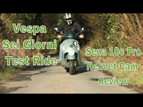 Sena 10c Pro Helmet Cam Fitting & Vespa Sei Giorni Test Ride - SHARK vs Caberg helmet options...