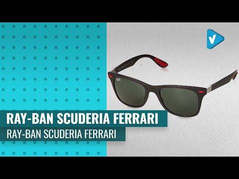 ray-ban-rb4195m-scuderia-ferrari-collection-wayfarer-sunglasses,-matte-black/green,-52-mm