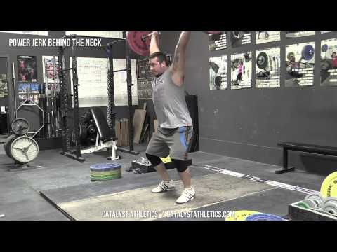 Power Jerk Behind the Neck - Olympic Weightlifting Exercise Library - Catalyst Athletics