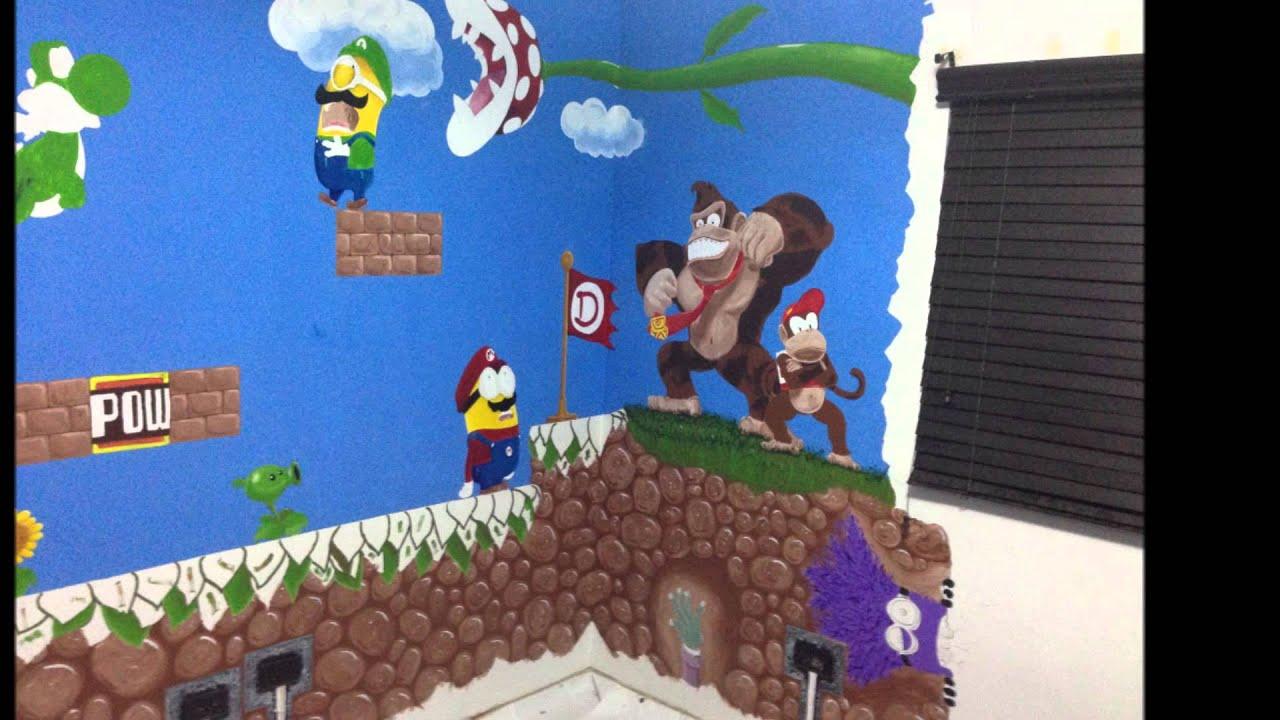 Mural mario bros habitaci 243 n daniel youtube