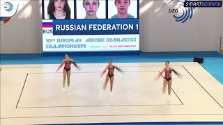 """X чемпионат Европы. Юниоры. Квалификация. """"Трио"""". Россия-1"""