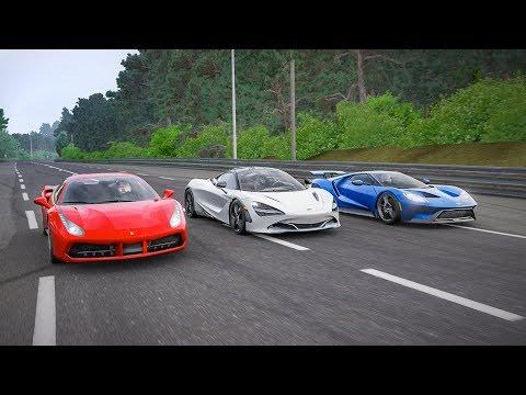 Forza 7 Drag Race! - Mclaren 720S VS Ferrari 488 GTB VS 2017 Ford GT!!!