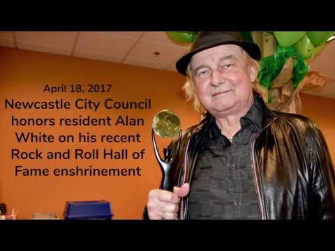 Newcastle City Council honors Yes drummer Alan White