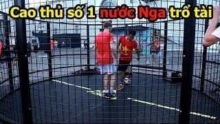 Thử Thách bóng đá World Cup 2018 Việt Nam VS Vua Bóng Đá đường phố Nga ngang tài Sean Gariner