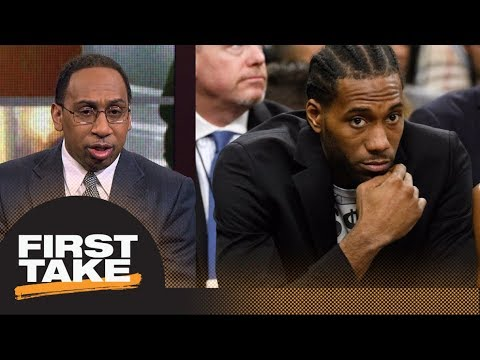Stephen A. shares theory on why Spurs' Kawhi Leonard isn't playing this season | First Take | ESPN