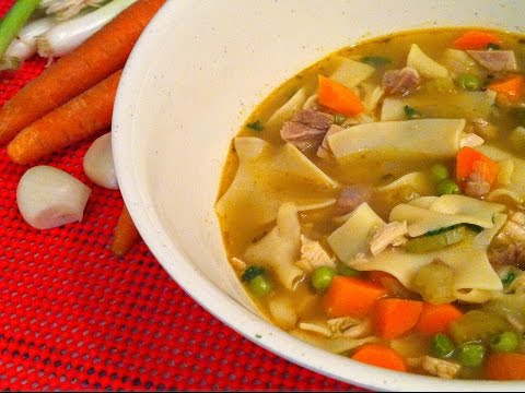 Turkey Noodle Soup Recipe - Delicious Way To Use Up Leftovers! - Episode #65