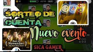 NUEVO EVENTO - BEST OF NOVEMBER - BOX DRAW - SORTEO DE CUENTA